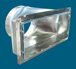"14"" x 6"" x 8"" Sheet Metal Register Box with Snap-Rail Flange"