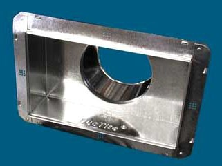 "12 X 12 X 12"" Register Duct Box, Galvanized Steel"