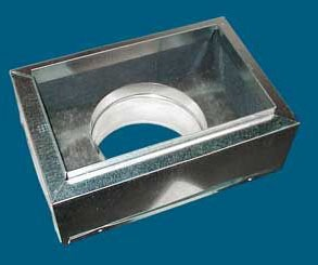 "14"" x 8"" x 9"" Sheet Metal Register Box"