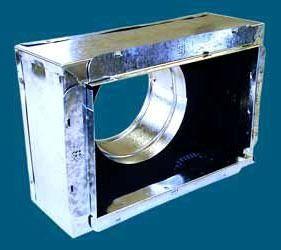 "10"" x 10"" x 8"" Sheet Metal Register Box with Snap-Rail Flange"
