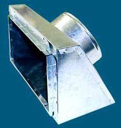 """8"""" x 4"""" x 5"""" Sheet Metal Register Box"""