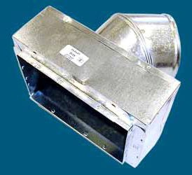 "12"" x 8"" x 8"" Sheet Metal Register Box with Collar and Tab"