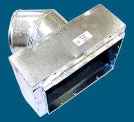 """12"""" x 6"""" x 7"""" Sheet Metal Register Box with Collar and Tab"""
