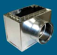 """10"""" x 6"""" x 6"""" Sheet Metal Register Box with Side Outlet"""
