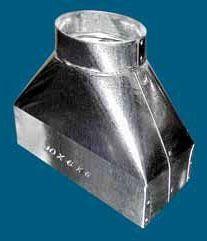 "10 X 6 X 6"" Register Duct Box, Galvanized Steel"