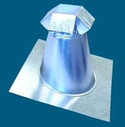 4' Sheet Metal Tapered Roof Jack with Vent Cap - 6/12 Pitch