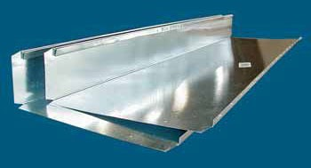 """10 X 3-1/4 X 36"""" Wall Stack Duct, Galvanized Steel"""