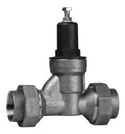 "1"" Cast Copper Silicon Alloy Water Pressure Reducing Valve - Soldered Union, 400 psi"