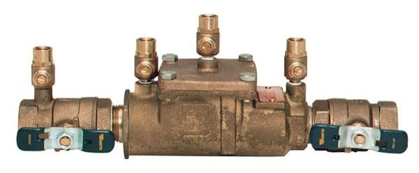 """2"""" Cast Copper Silicon Alloy Dual Check Valve Assembly - FPT, 175 psi"""
