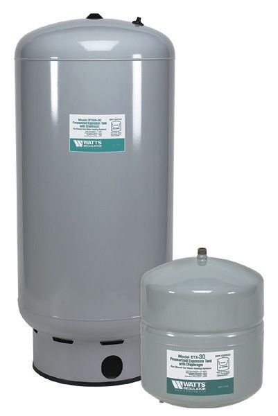 4.5 Gallon In-Line Water Heater Expansion Tank - Steel, 75 psi