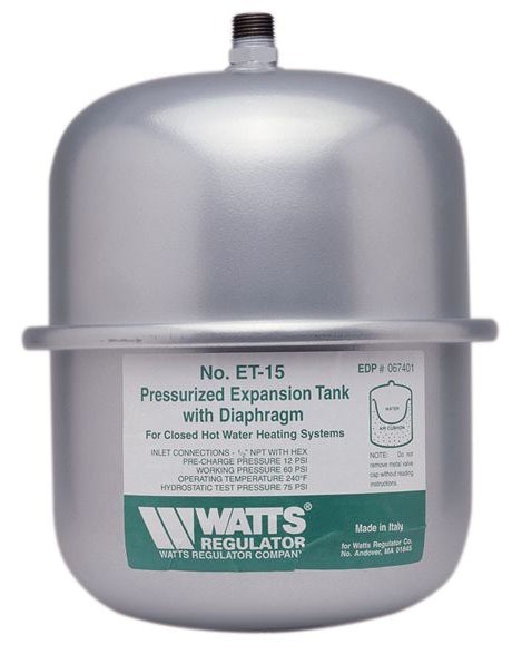 Free Standing Water Heater Expansion Tank, Steel