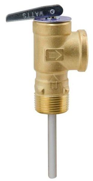 "3/4"" Bronze Automatic Reseating Temperature and Pressure Relief Valve - FPT, 150/210 psi"