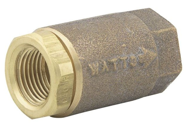 "3/4"" Cast Copper Silicon Alloy Silent Check Valve - FPT, 400 psi WOG, 15 psi SWP"