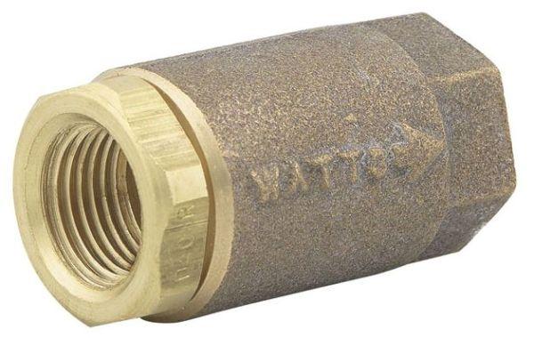 "1"" Cast Copper Silicon Alloy Silent Check Valve - FPT, 400 psi WOG, 15 psi SWP"