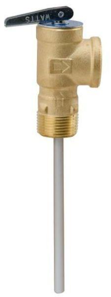 "3/4"" Copper Temperature and Pressure Relief Valve - MPT x FPT, 150/210 psi, Self-Closing"