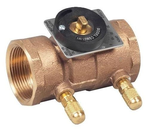 "1/2"" Threaded Flow Measurement Valve, Bronze"