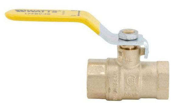 "1"" Forged Copper Silicon Alloy Full Port Ball Valve - Lever Handle, FPT, 150 psi SWP, 600 psi WOG"