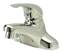 Bathroom Sink Faucet with Single Lever Handle - AquaSpec, Polished Chrome, Deck Mount, 2.2 GPM