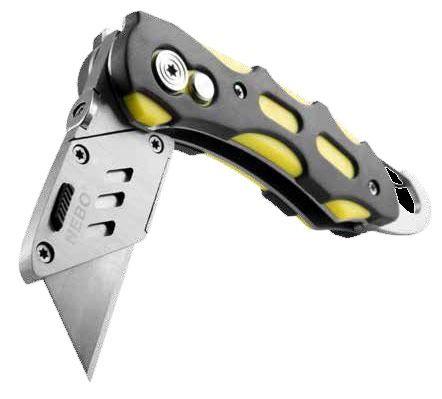 Folding/Locking Utility Knife Assortment, Anodized Aluminum Handle