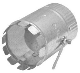 """12"""" Dovetail Duct Start Collar With Damper"""