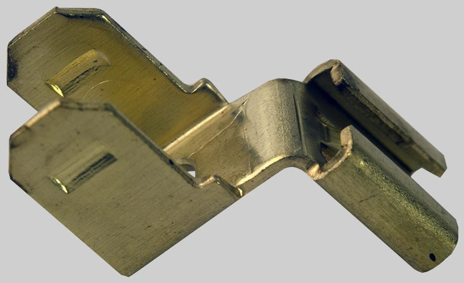 2-Male 1-Female Insulated Tab Adapter - DEVCO, Stacked, 1/4""