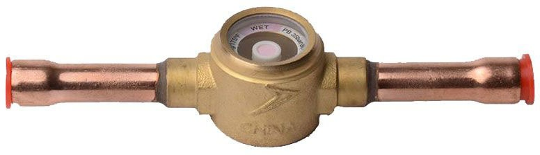 "3/8"" Soldered Forged Brass Refrigerant Line Sight Glass"