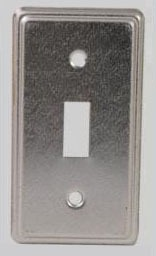 """2-11/32"""" x 4-1/4"""" Plated Steel Utility Cover - DEVCO, Toggle Switch"""
