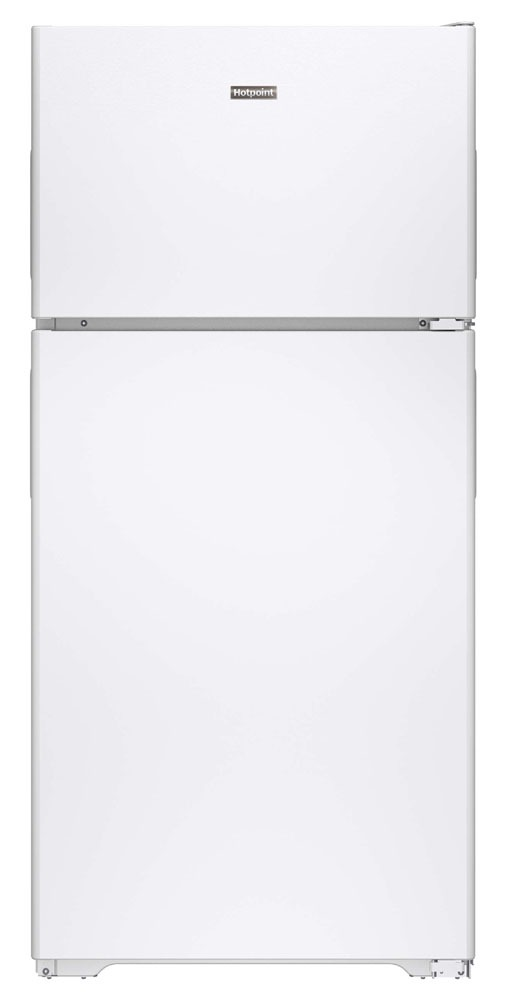 "28"" Top Freezer Freestanding Refrigerator - Hotpoint, White, 17.6 Cu Ft, 3-Shelf"