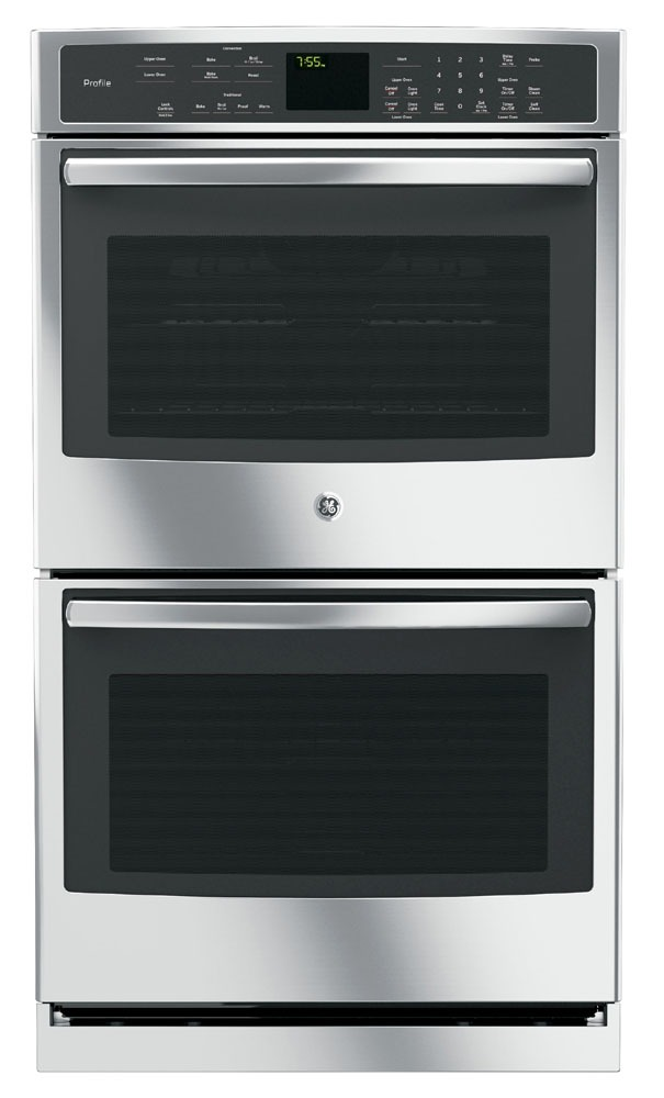"""30"""" Stainless Steel Convection Wall Oven - GE Profile, Double, Built-In, 208/240 V, 10 Cu Ft"""