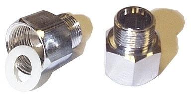 """3/8COMP X 1/2FLARE"""" Closet Adapter, Brass"""