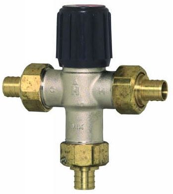 PEX Union Thermostatic Mixing Valve, Brass