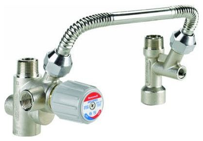 "3/4"" Threaded Thermostatic Mixing Valve Kit, Brass/Stainless Steel"