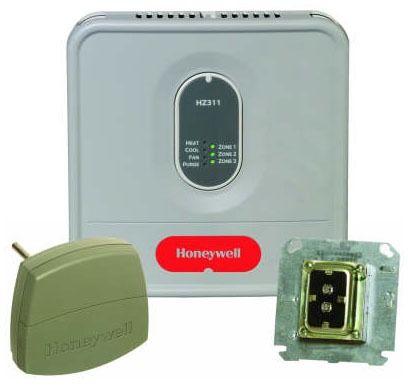 3-Zone 1-Heat / 1-Cool Zoning Panel Kit with LED - TrueZONE, 24 V