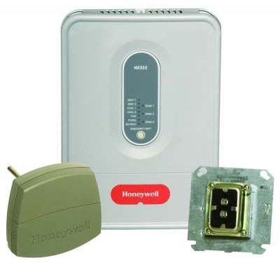3-Zone 2-Heat / 2-Cool Zoning Panel Kit with LED - TrueZONE, 24 V