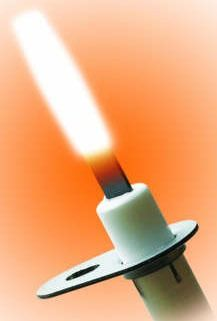 """Universal Hot Surface Igniter - GLOWFLY, Silicon Nitride, 15"""" L Lead Wire, 120 VAC"""