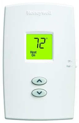 1 Heat Dual Powered Digital Non-Programmable Thermostat, Premier White