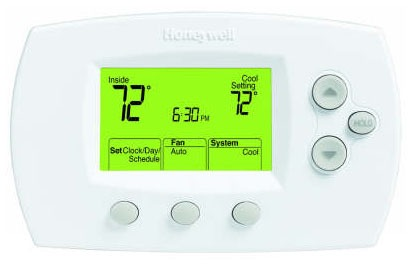 5-2 Day Programmable Thermostat - FocusPRO, 20 to 30 VAC, 0.02 to 1 A (Heat / Cool) / 0.5 A (Fan)