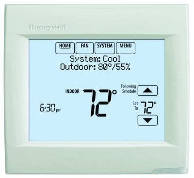 1 Heat/1 Cool Digital Programmable Thermostat, Arctic White