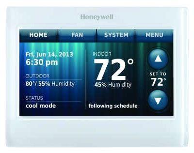 3 Heat/2 Cool Touchscreen Thermostat, Premier White