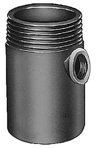 """3"""" Tapped Floor Drain Auxiliary Inlet Fitting, Duco Cast Iron"""
