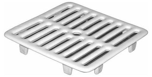 1-Piece Floor Sink Grate, Cast Iron