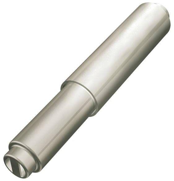 Bathroom Paper Holder Roller - Mason, Satin Nickel, Plastic