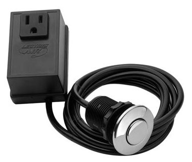 Garbage Disposal Air Switch Kit - With Controller, Flush Switch, Polished Chrome