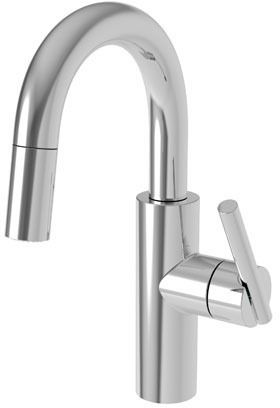 Bar Faucet with Swivel Spout & Single Lever Handle - East Linear, Natural Polished Nickel, Deck Mount, 1.8 GPM