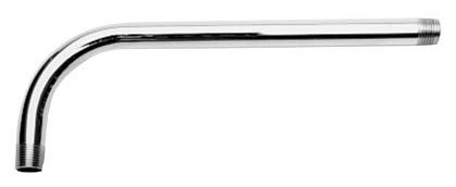 """1/2"""" x 18"""" Shower Arm - Chrome Plated, 90D Bend"""