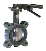 "4-8"" Flanged Butterfly Valve, Cast Iron"