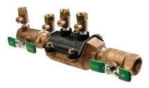 1-1/2 Threaded Backflow Preventer, Cast Bronze
