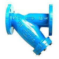 """2-1/2"""" Cast Iron Wye Strainer - Stainless Steel Screen, Flanged x Flanged x NPT, 200 psi WOG, 125 psi SWP"""