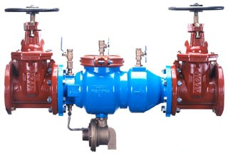 """8"""" Epoxy Coated Ductile Iron Reduced Pressure Backflow Preventer Assembly - Flanged, 175 psi"""