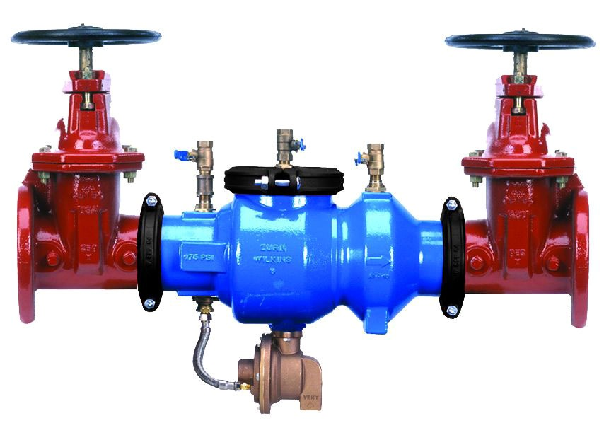 """6"""" Epoxy Coated Ductile Iron Reduced Pressure Backflow Preventer Assembly - Flanged, 175 psi"""